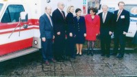 1997. Visit to the center of the future US Secretary of State Hillary Clinton #1