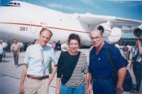 1991. The first major humanitarian cargo from the United States from the Chornobyl Children's Aid Fund #1