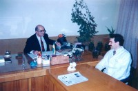 1990. In the chair of the chief physician of the Lviv Regional Children's Specialized Clinical Hospital #1